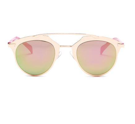 Betsey Johnson Women's Round Brow Bar Sunglasses.JPG
