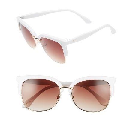 BP 55mm square sunglasses pink white.JPG