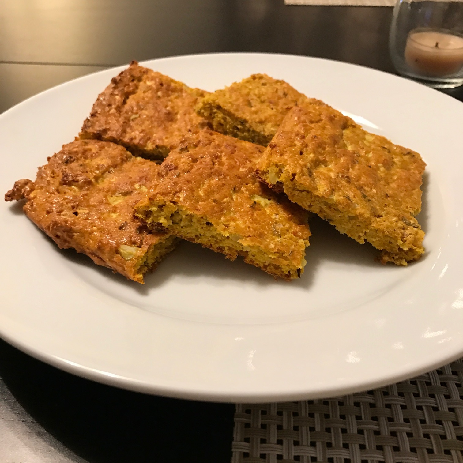 Turmeric Cauliflower Flatbread - Paleo & Whole 30