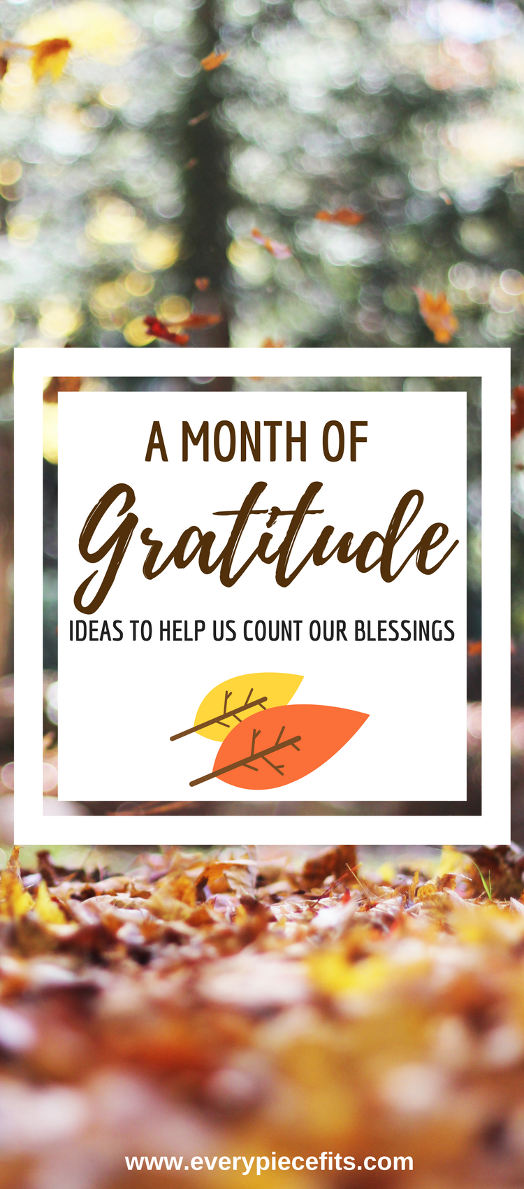 Pinterest A Month of Gratitude - Ideas to help count our blessings.png