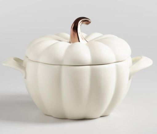 WM White Ceramic Pumpkin Baker.JPG