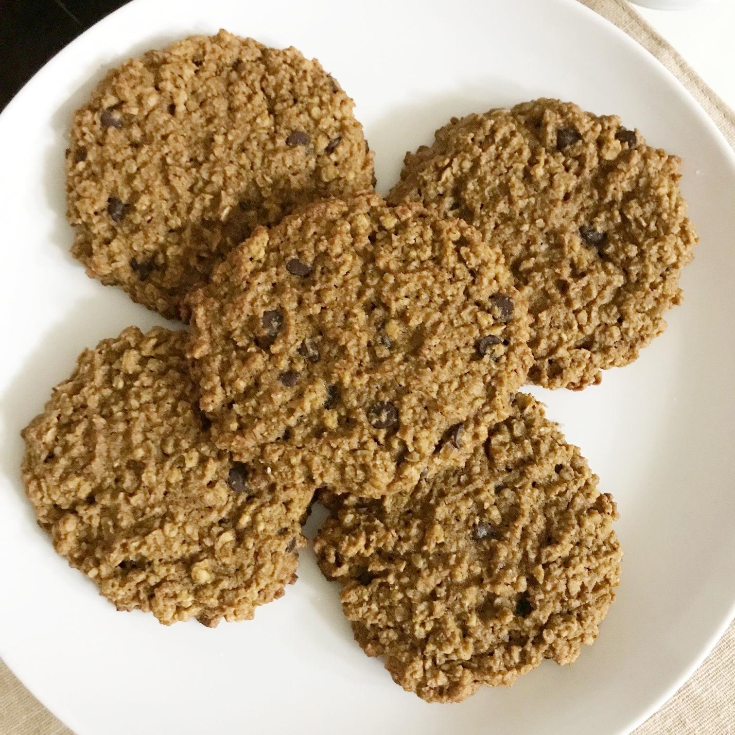 Pumpkin Oatmeal Chocolate Chip Cookies - Gluten Free