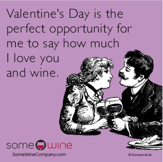 Valentine's Day Love you and wine.JPG