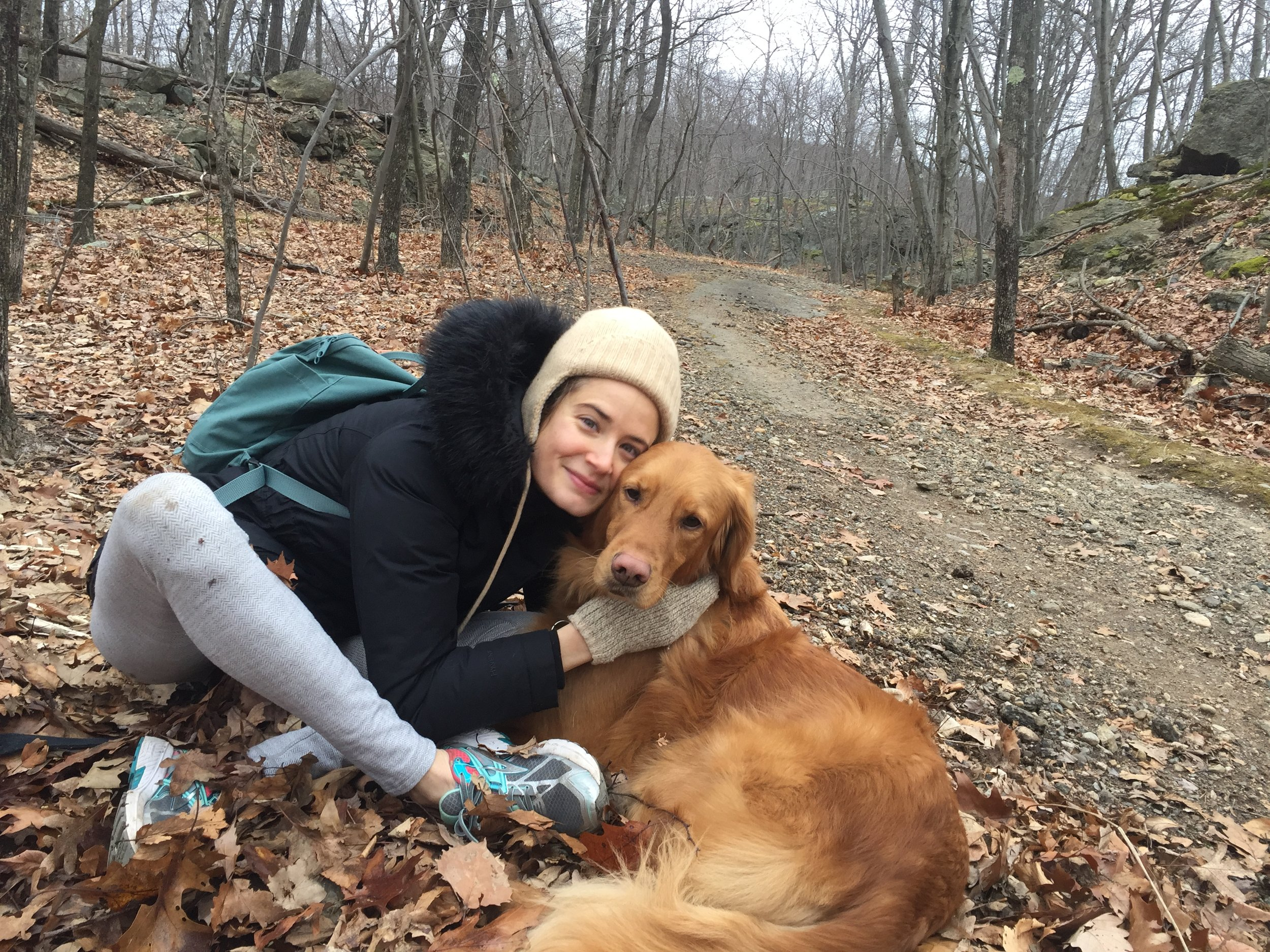 Another form of celebration: Going into the woods with an adorable golden retriever and exploring :)