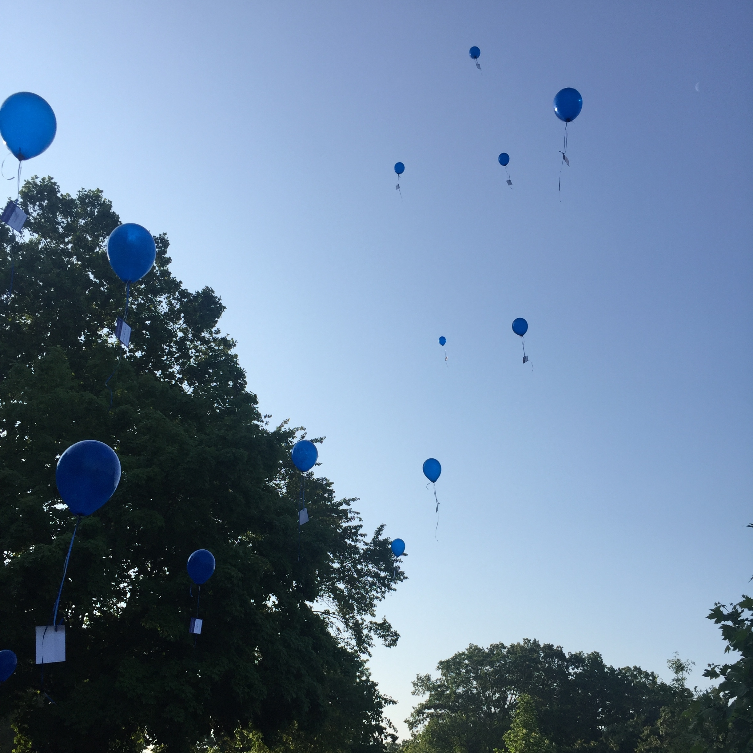 Balloons released in memory of those who have made the ultimate sacrifice in the line of duty