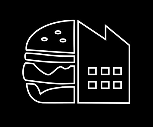 ✏️ 2:06: Burgerfabriek - Burger + factory. Pretty simple stuff. It's not an absolutely perfect logo — the factory feels a touch off-balance and awkward — but the negative space in the burger is awesome.