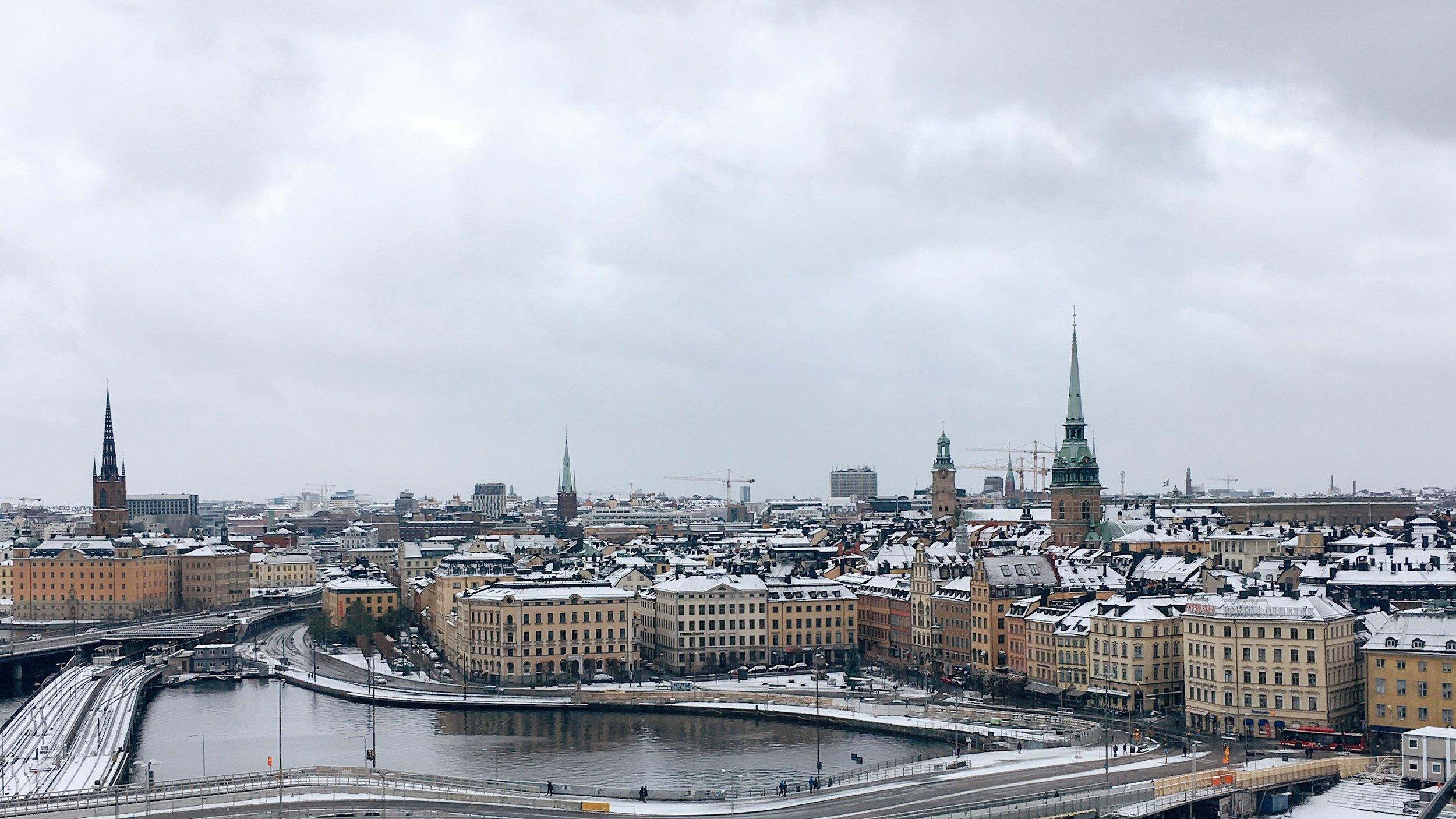 Snowy Stockholm -