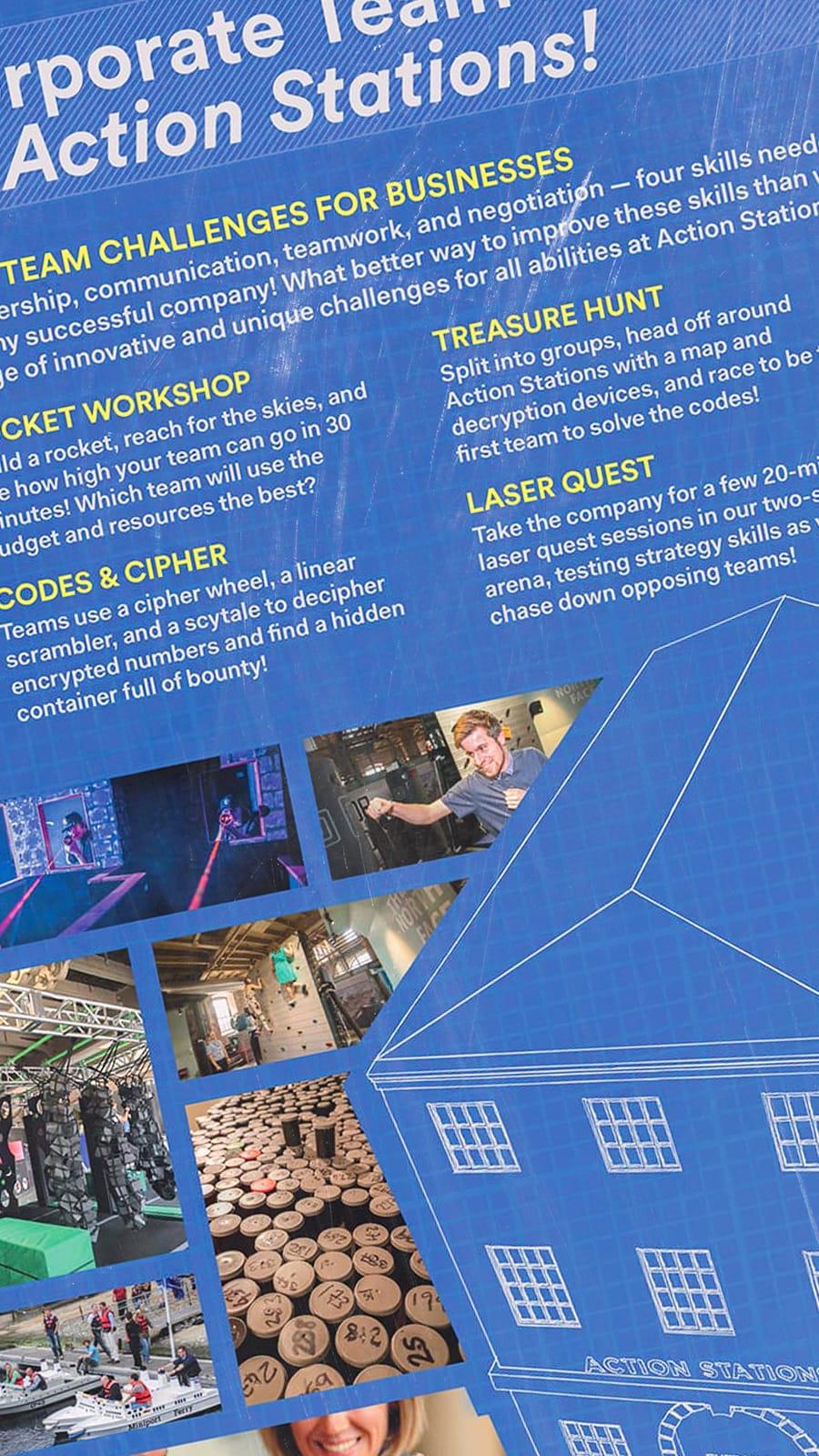 Poster design for Action Stations Portsmouth -