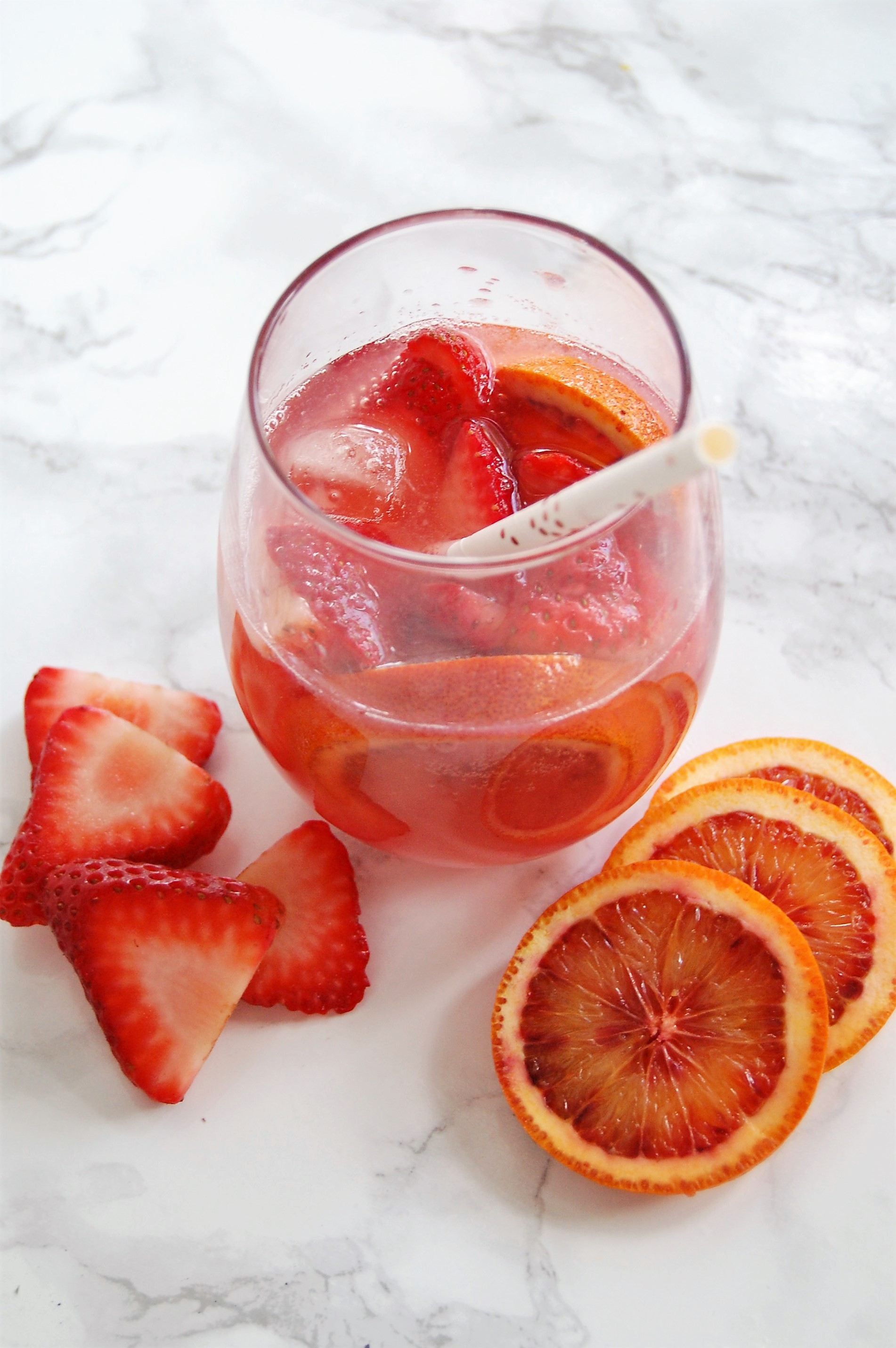 Strawberry Blood Orange Mocktail (and more!) - Lindsey Janiero, RDNutrition to Fit