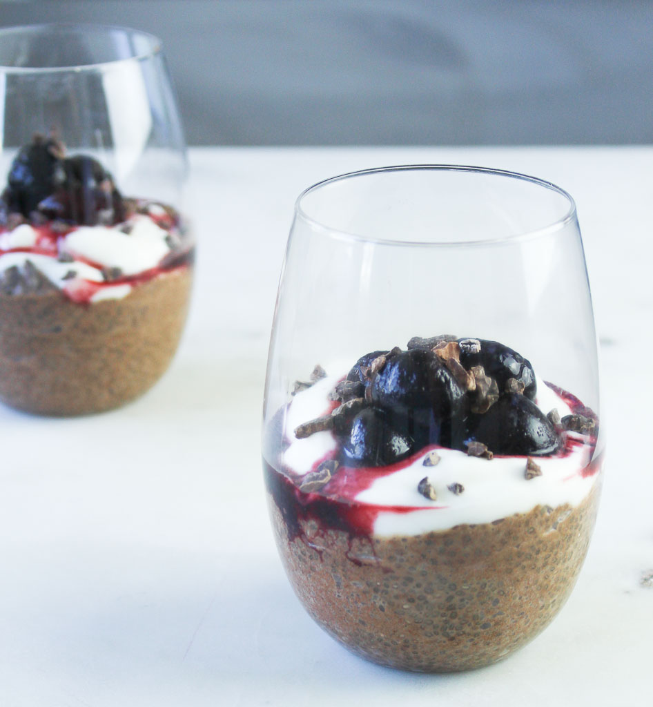 Black Forest Chia Pudding - Julie Harrington, RD