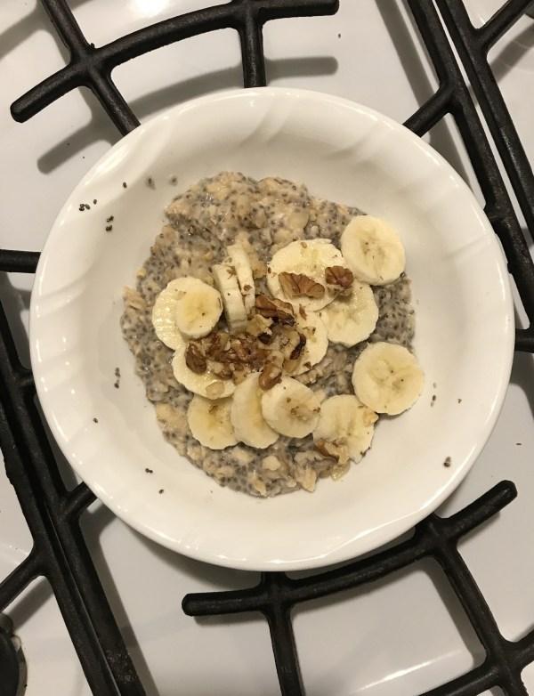 Banana Nut Eggy Oats - Kelsey Lorencz, RD