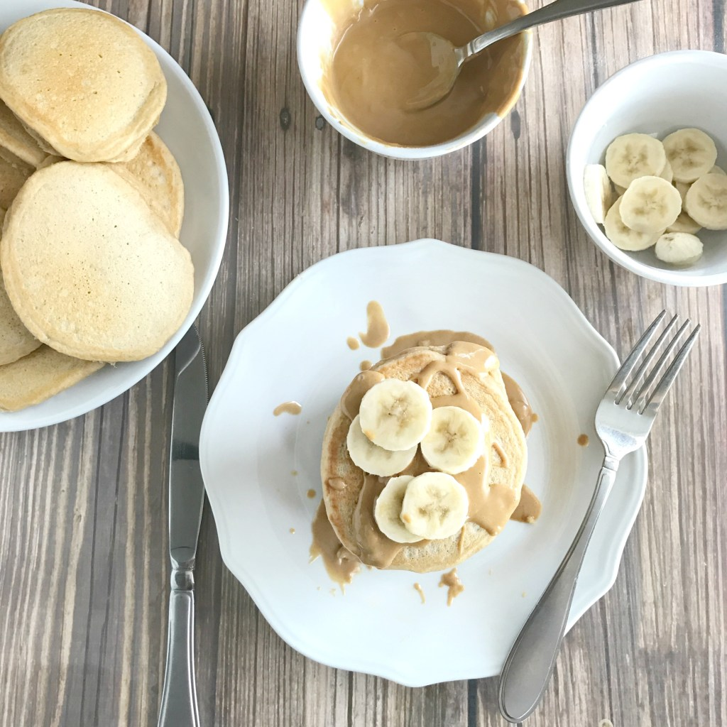 Peanut Butter Protein Pancakes - Brittany Poulson, RD