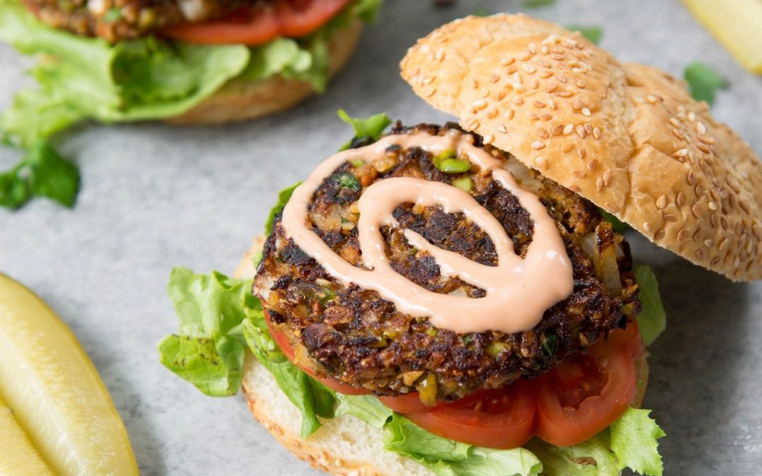 healthy burger, vegan