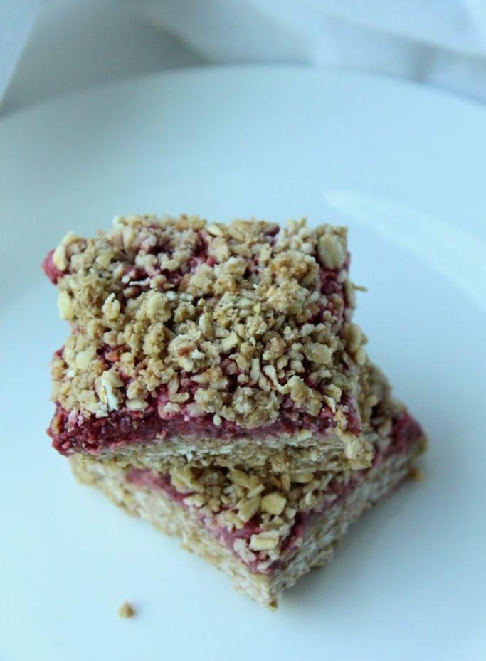 Vegan Strawberry Oat Squares - Barbara Murphy, RD of Zest Nutrition