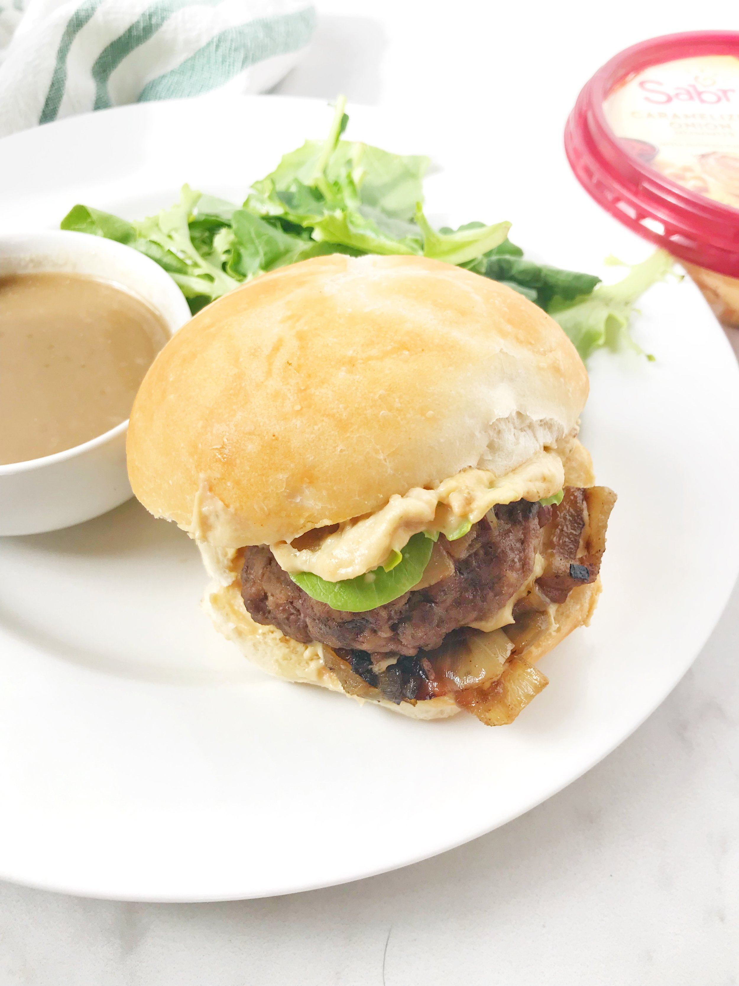 caramelized onion burgers