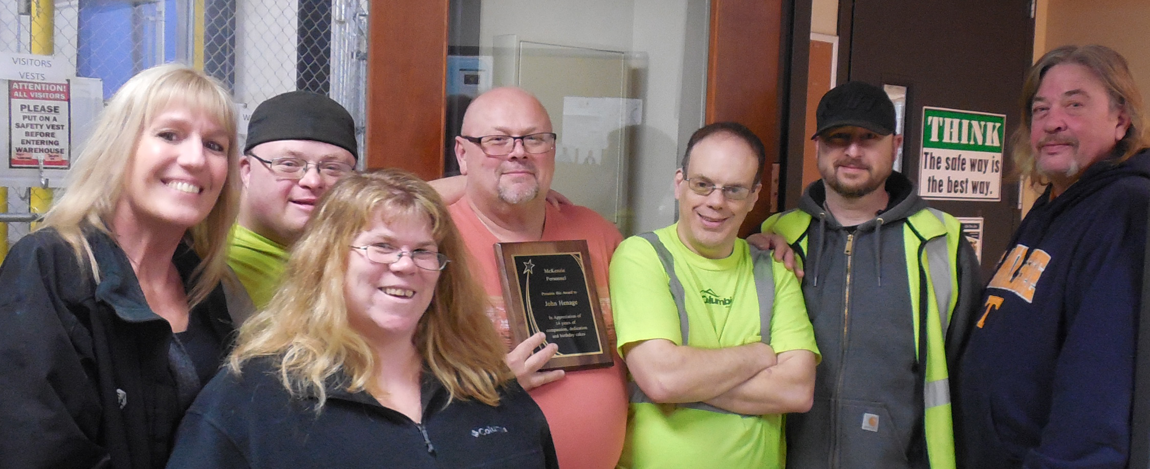 Appreciation Award For John At Columbia Distributing