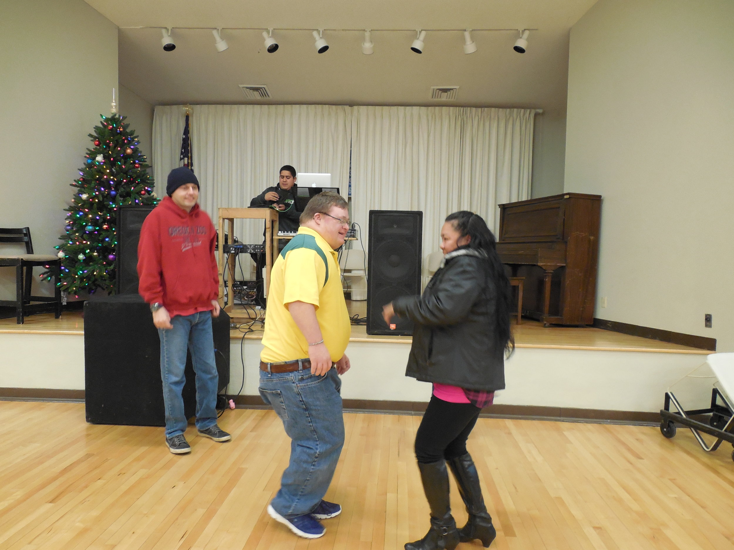 Christmas Party-Danny and Clinton dancing.JPG