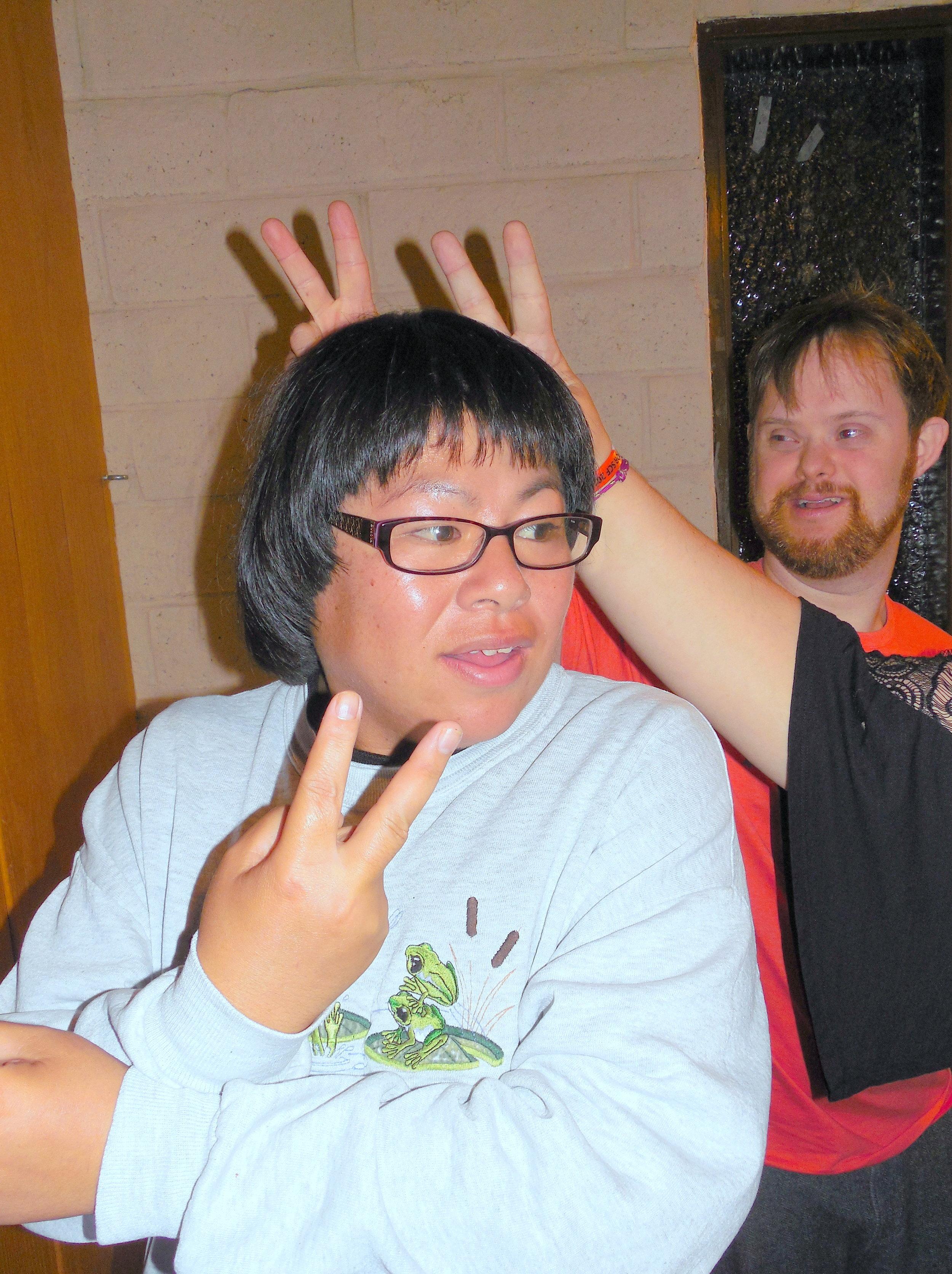 34 Game Night-Stephanie with so many bunny ears-David.jpg