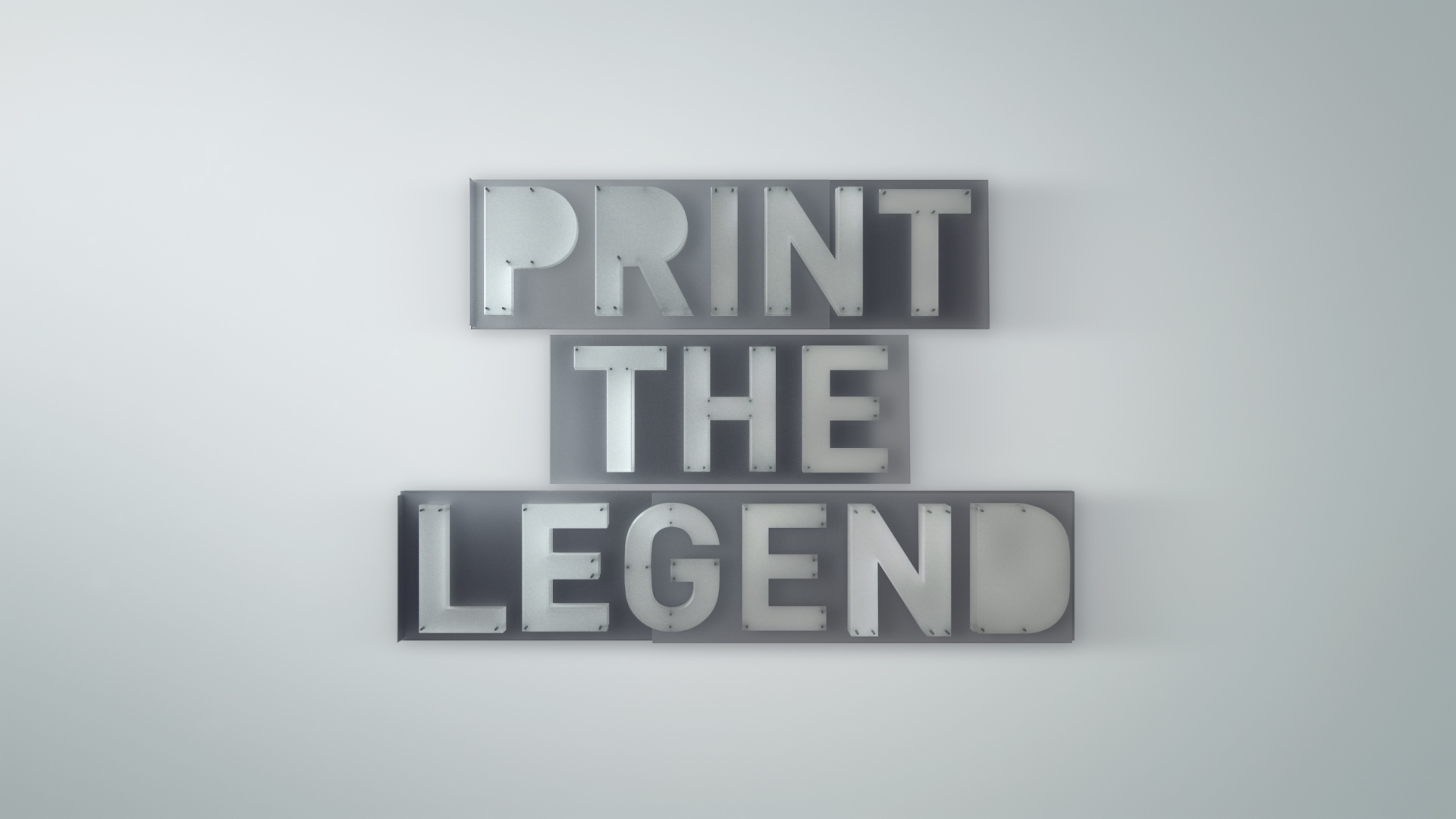 "Title for Netflix Documentary ""Print The Legend"" about 3D printing."