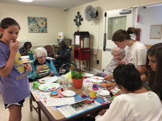 Crafts with Nursing Home