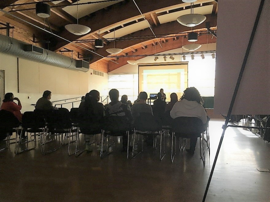 The SEOC Community Meeting was held at New Holly Learning Center.   |   Photo by Joshua Janet
