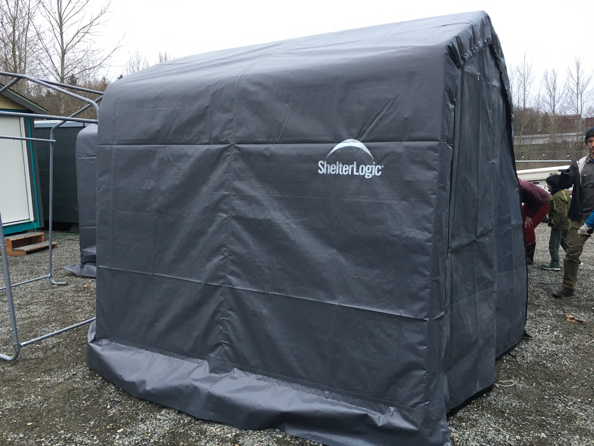 Tent structure with canvas cover