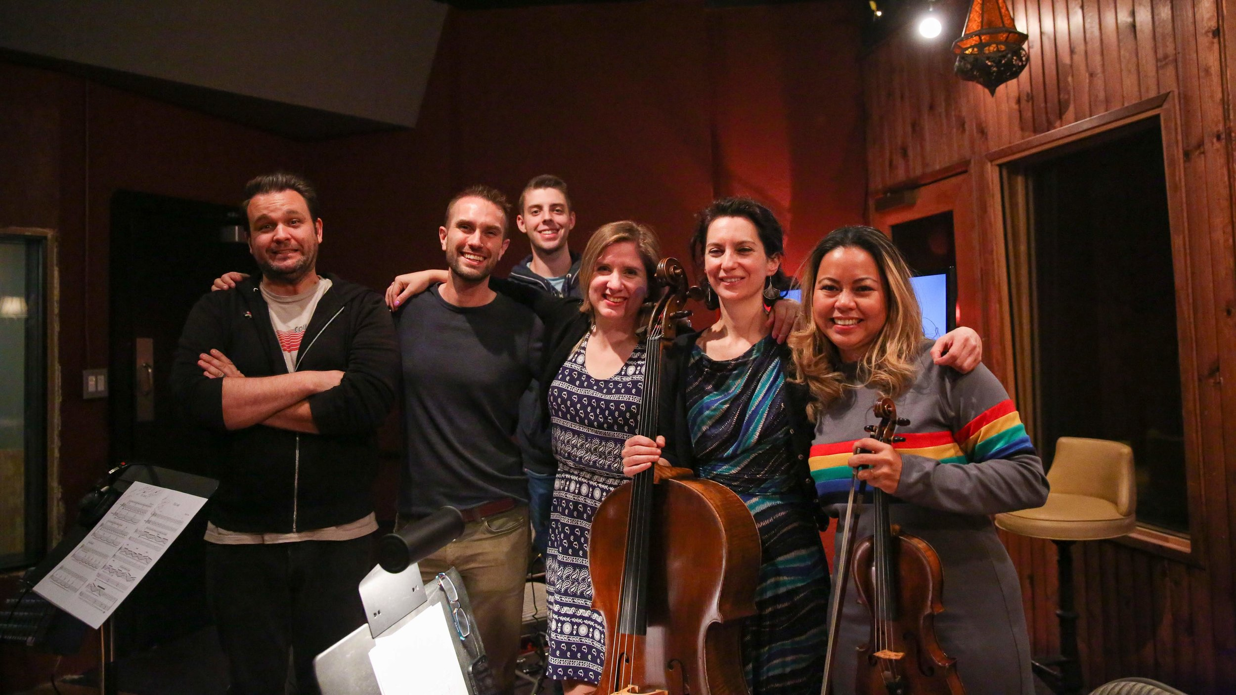 Our fantastic group from TLG Recording Session - Speakeasy Sound is such a great room!