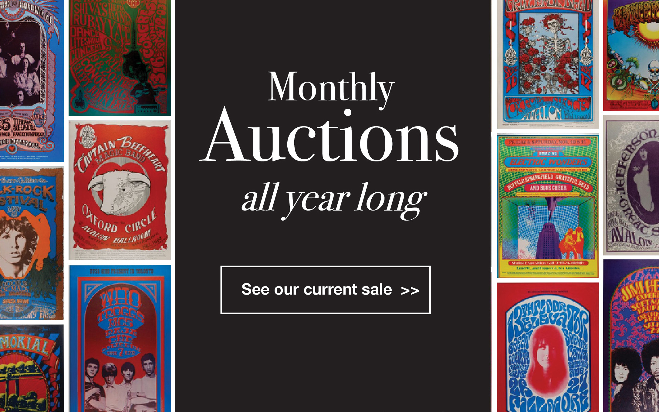 Monthly auctions all year long. See our current sale.