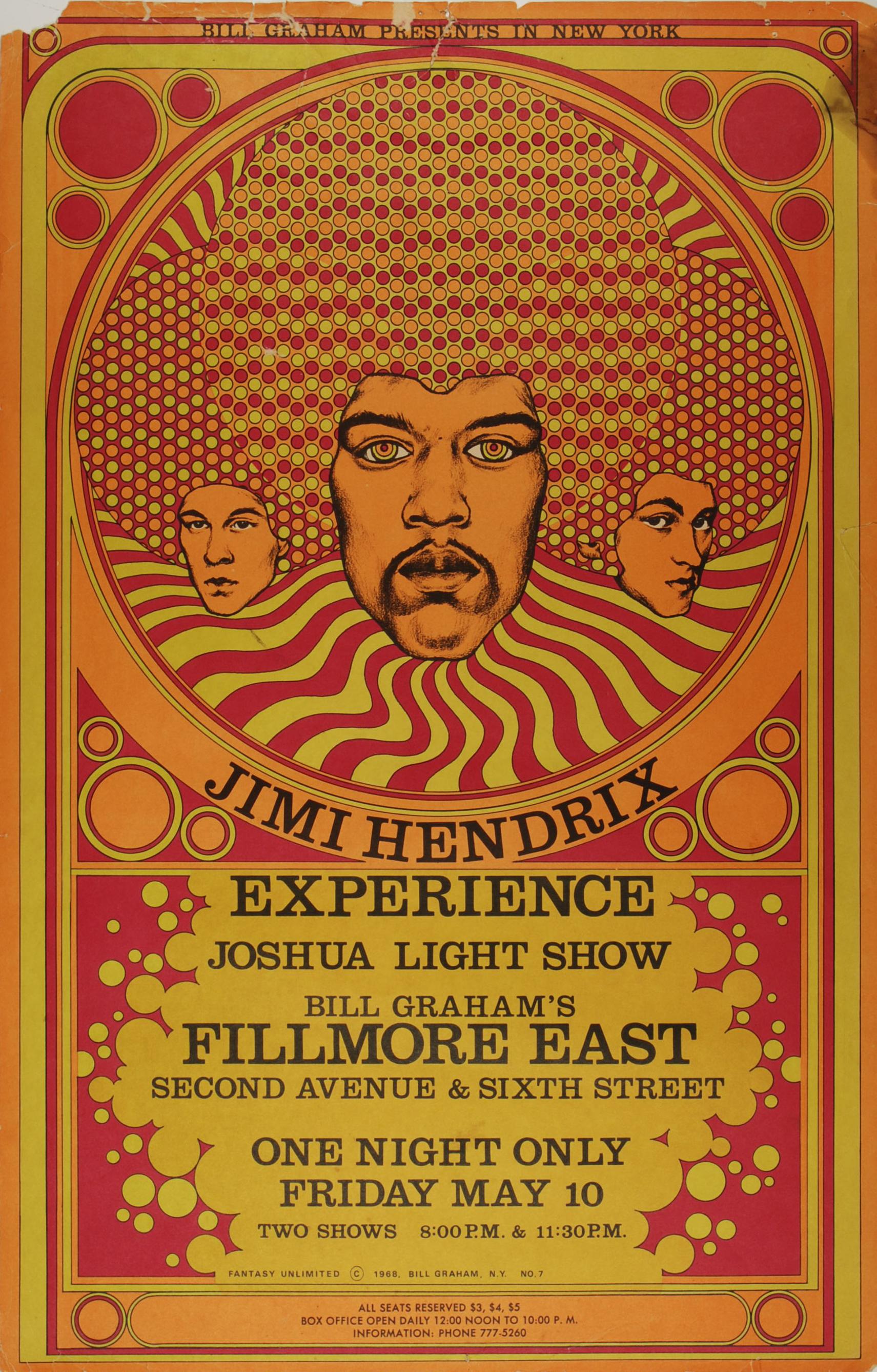 Jimi Hendrix Experience Joshua Light Show
