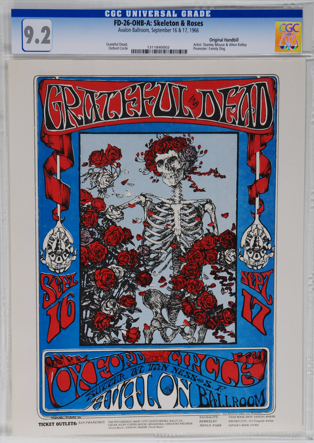 Vintage concert handbills offer the same iconic art as the poster for a fraction of the price.