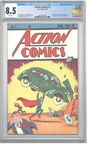 This is the most recent of 4 Action Comics #1 to realize over $1,000,000 at auction. All 4 were graded and authenticated by CGC.