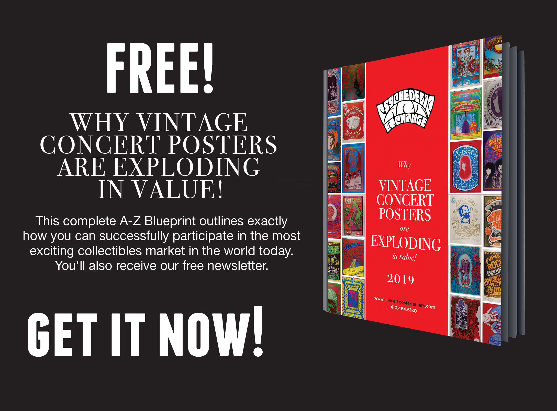 FREE 2019 Vintage Concert Posters Blueprint