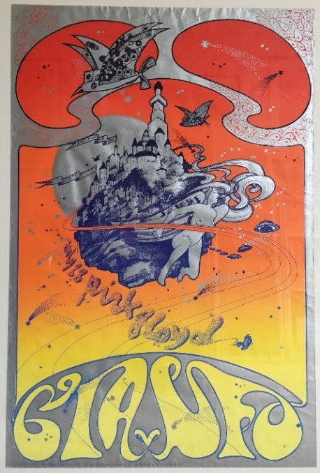 OA 114 CIA Pink Floyd at UFO Club concert poster