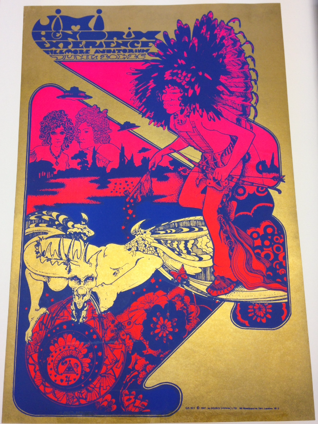 OA 103 Hendrix at the Fillmore Auditorium concert poster