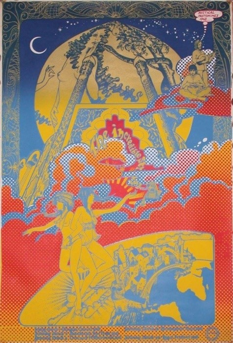 OA 130 Mystical Pantomines Incredible String Band Concert Poster for March Tour 1968