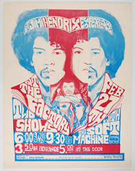 This rare Jimi Hendrix concert poster is being offered at auction for the first time ever