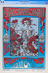 This Grateful Dead Skeleton and Roses concert poster recently sold for a record $56,400