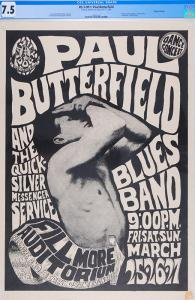 This FD-3 Paul Butterfield Blues Band Fillmore Auditorium 3/25/66 is being auctioned by Psychedelic Art Exchange