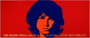 This Doors Electric Circus 8/8/69 concert poster is considered one of the most beautiful Doors posters ever created