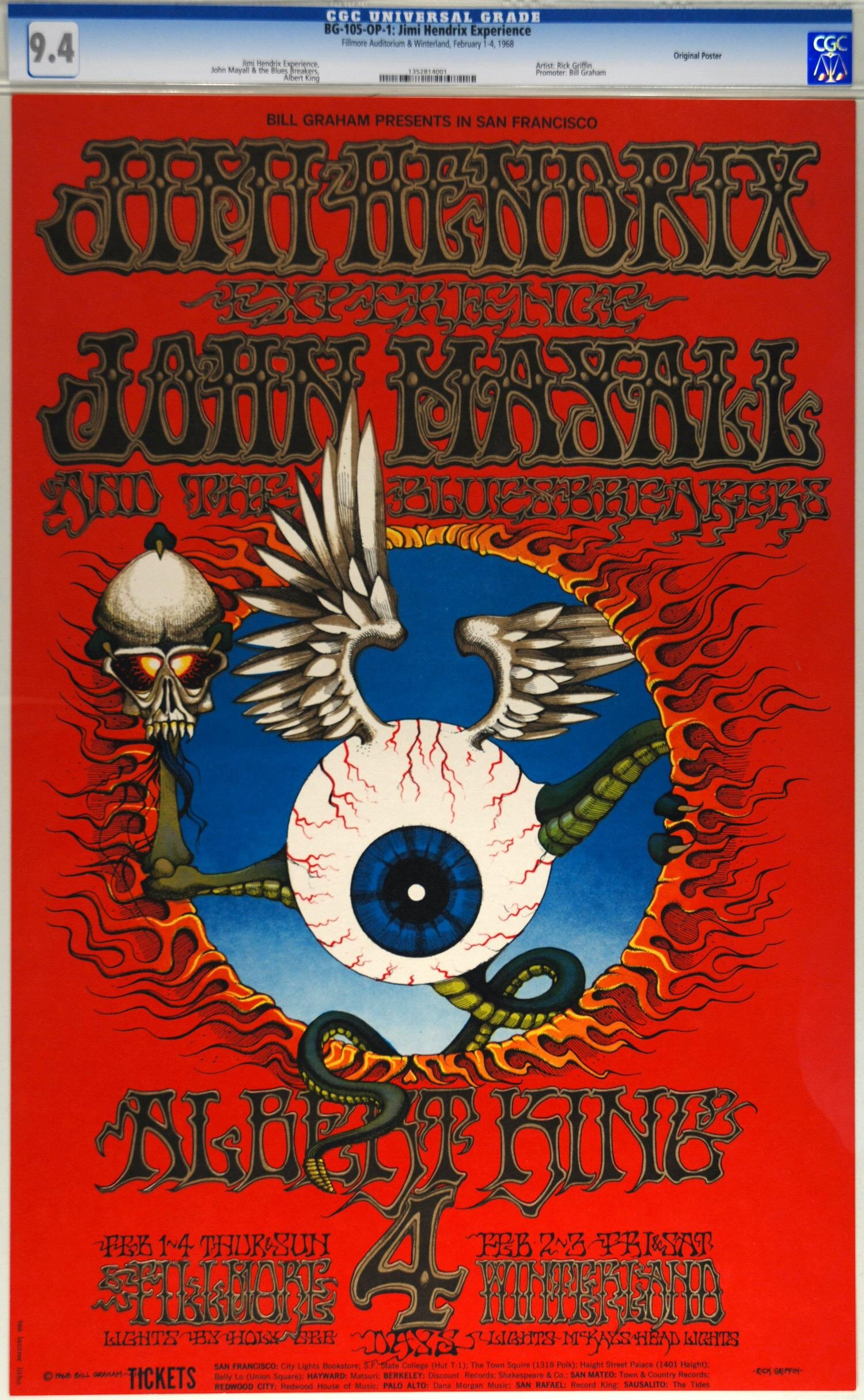 Jimi Hendrix, Fillmore West/Winterland