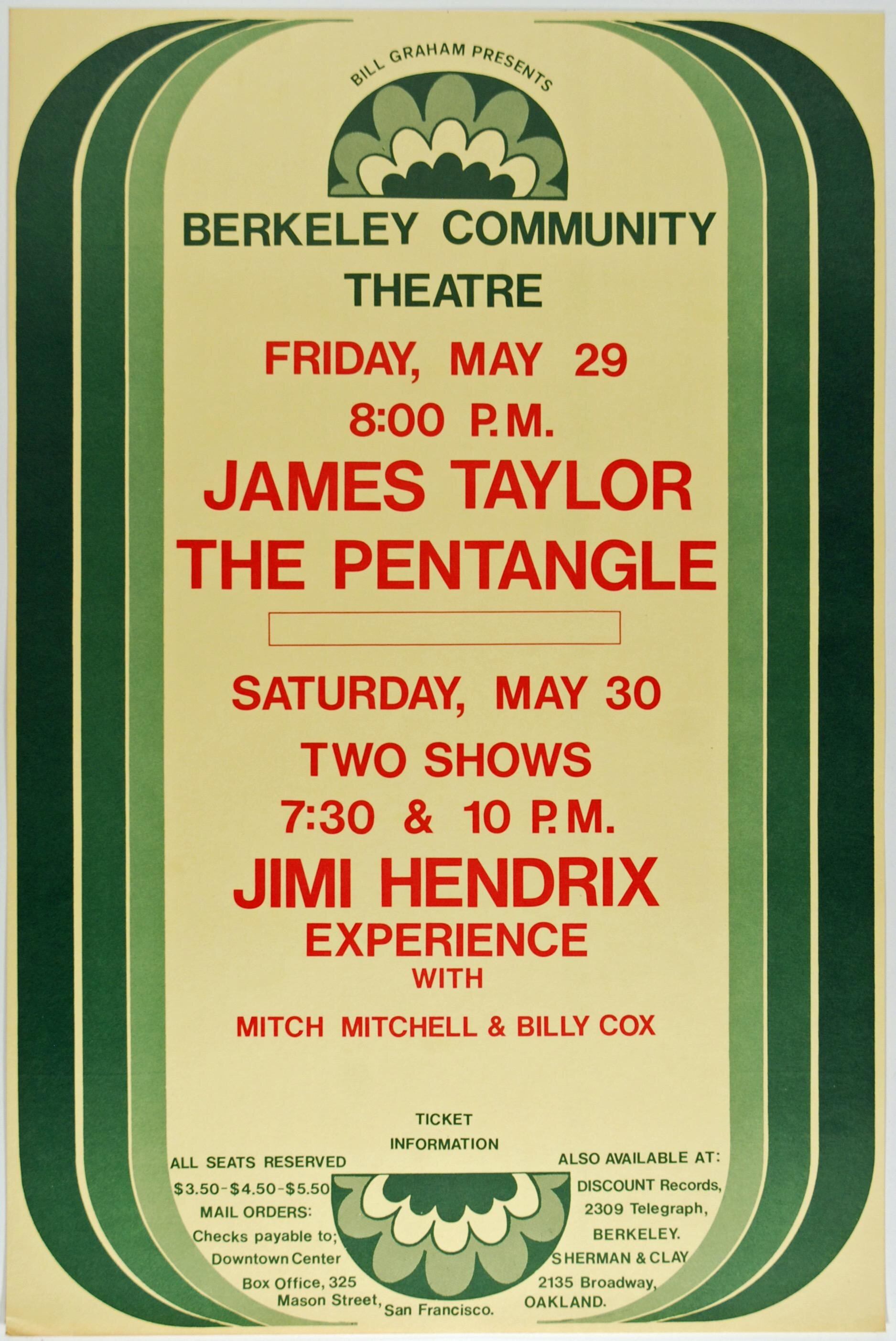 Jimi Hendrix, Berkeley Community Theatre