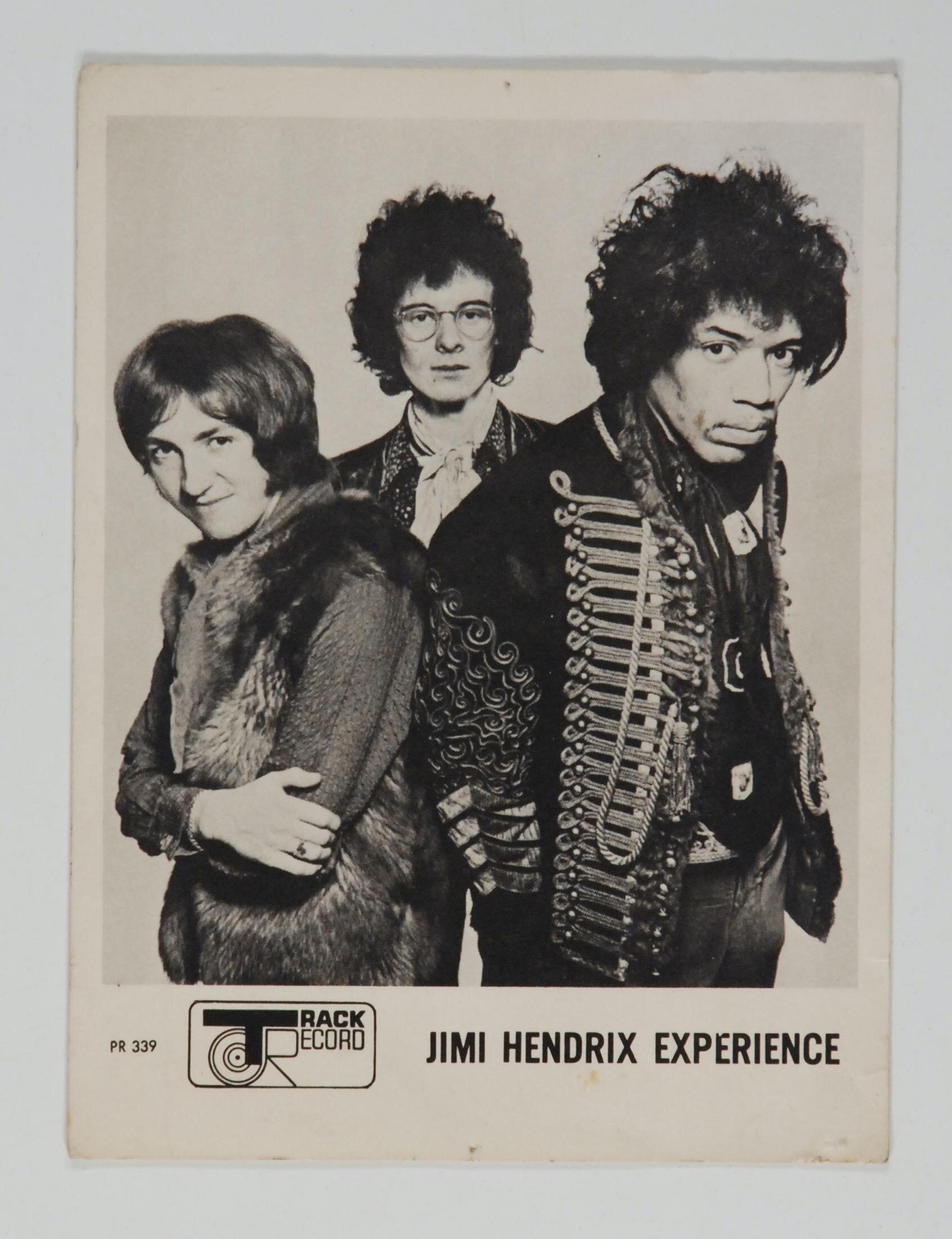 "Track Records ""The Wind Cries Mary"" Hendrix Promo Card 1967"