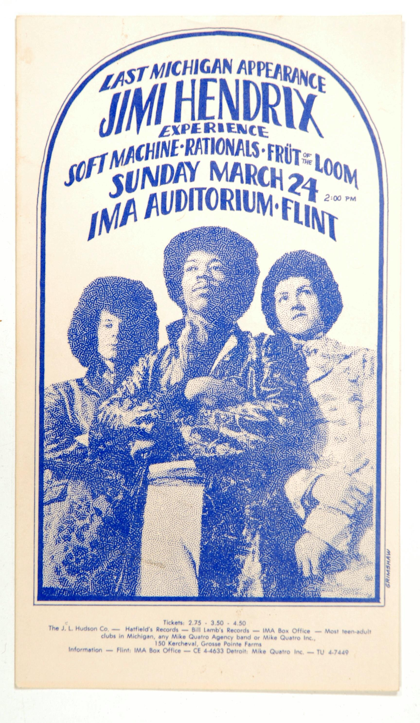 Last Michigan Appearance of  the Jimi Hendrix Experience