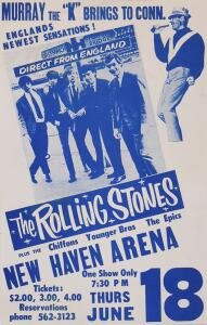 Rolling Stones Handbill New Haven Arena June 18, 1964 Up For Auction Now
