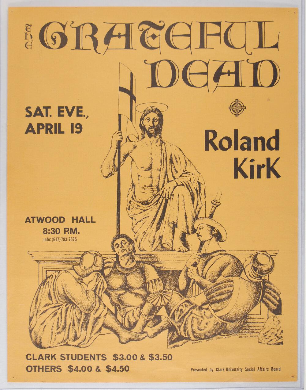 1979 Vintage Concert Poster Clark University The Clash