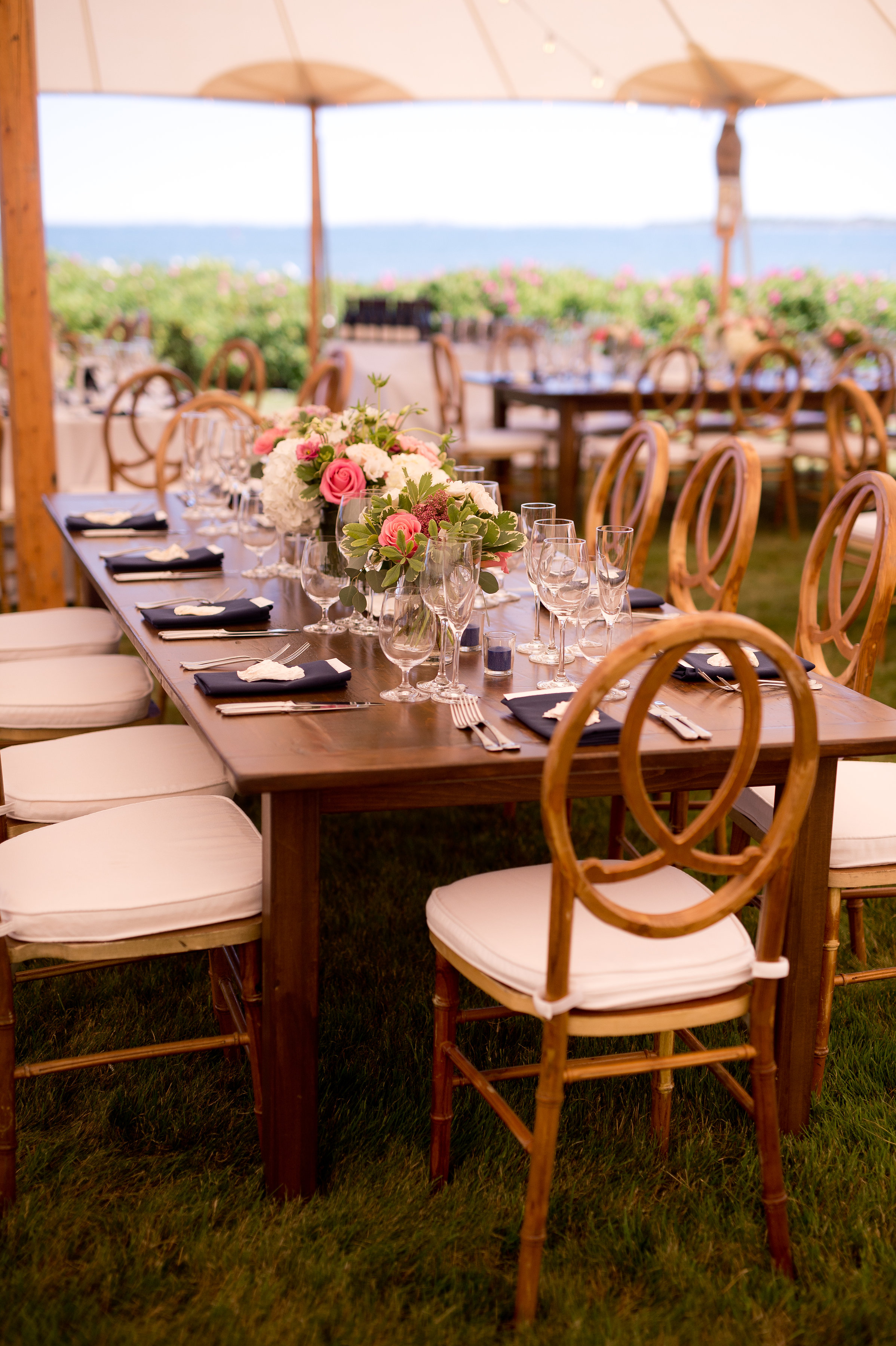 A glorious Sperry Tent nestled against the coastline set the stage for an amazing celebration for 200+ special guests and loved ones.