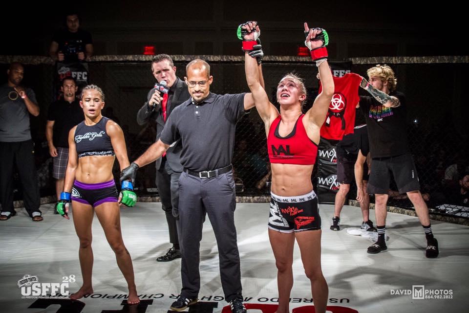 Hannah Rokala   http://www.tapology.com/fightcenter/fighters/136843-hannah-rokala