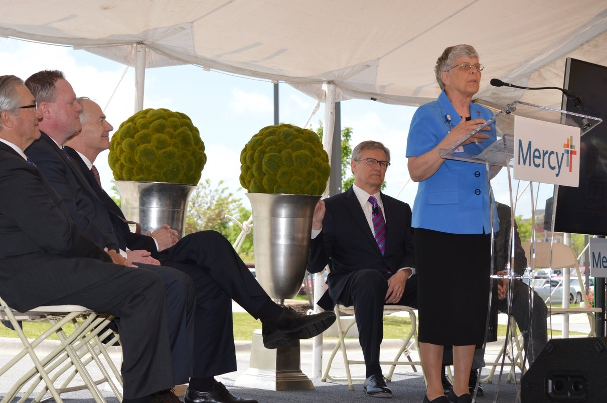 Sister Anita DeSalvo talked earlier today at a special ceremony about Mercy Northwest Arkansas and its plan to expand health care across the region.