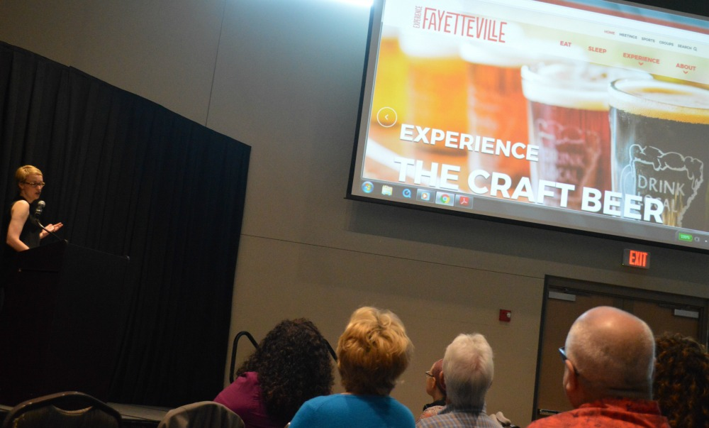 Molly Rawn of Experience Fayetteville talked about how promoting the region's craft beer industry will be one component of the city's new vision and direction.