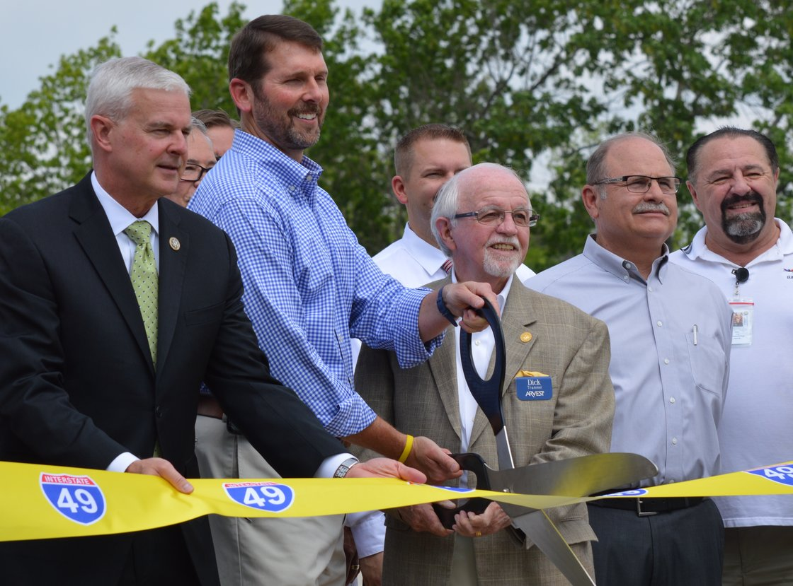 U.S. Rep. Steve Womack, the Arkansas Department of Transportation's Scott Bennett and Arkansas State Highway Commission Chairman Dick Trammel were among those who last spring celebrated the opening of a key section of the Missouri-Arkansas Connector, a highway more commonly referred to as the Bella Vista Bypass.